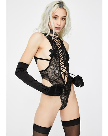 Whips N' Whimsies Lace Teddy