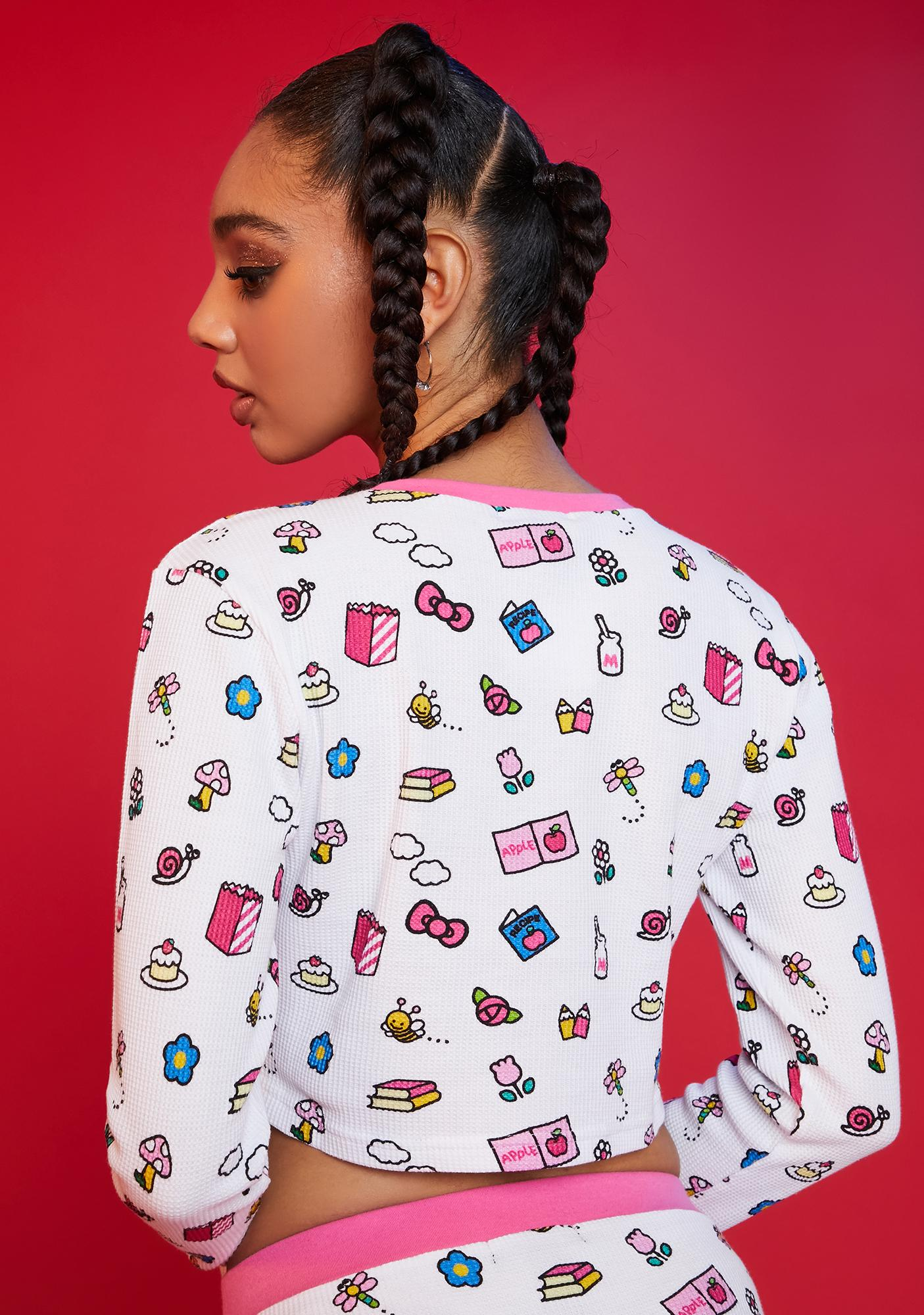Dolls Kill x Hello Kitty My Favorite Things Thermal Top