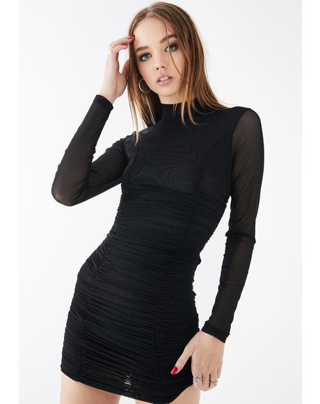 Baddie Ecstasy Ruched Dress