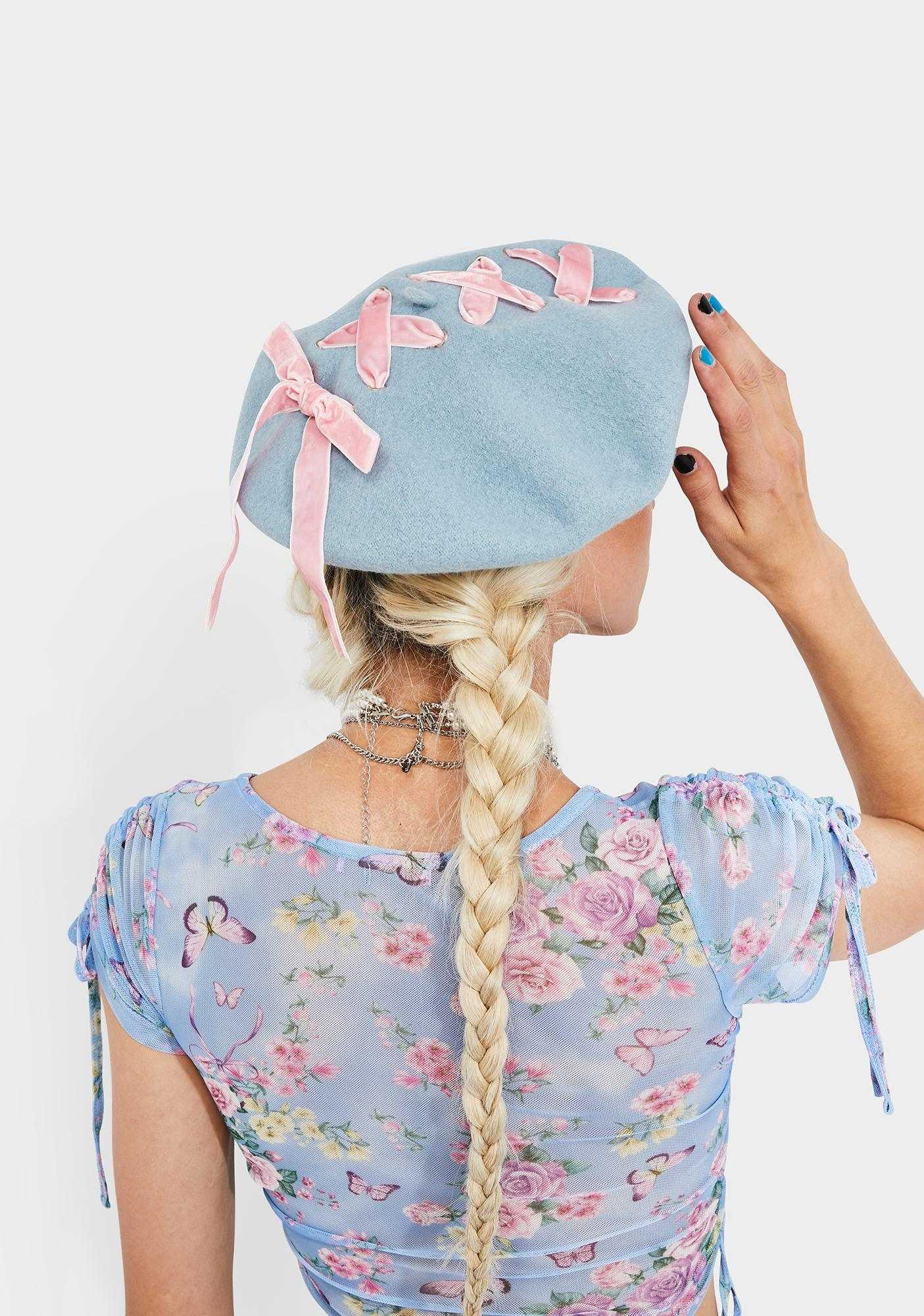 Stitched Together Ribbon Beret