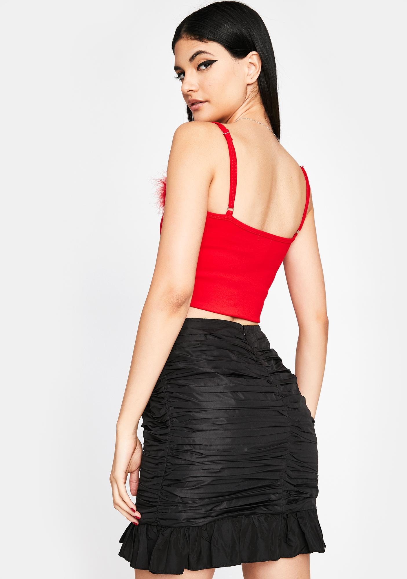 Frisky Nights Ruffle Skirt