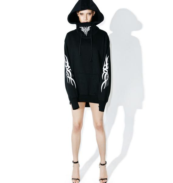 Current Mood Deathblow Masked Hoodie Dress
