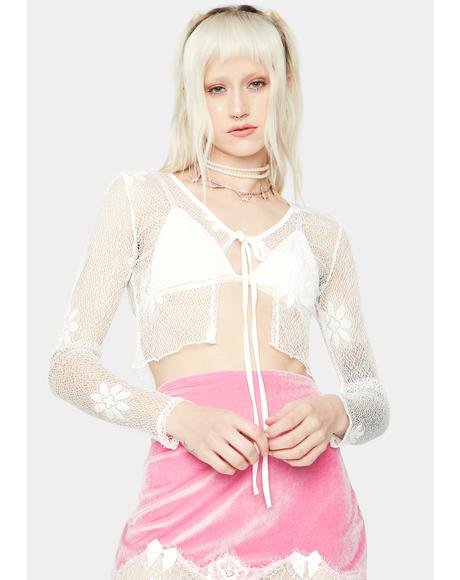Pure Fairy Fixation Sheer Crop Top