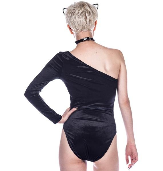 Wildfox Couture Black Cat Bodysuit