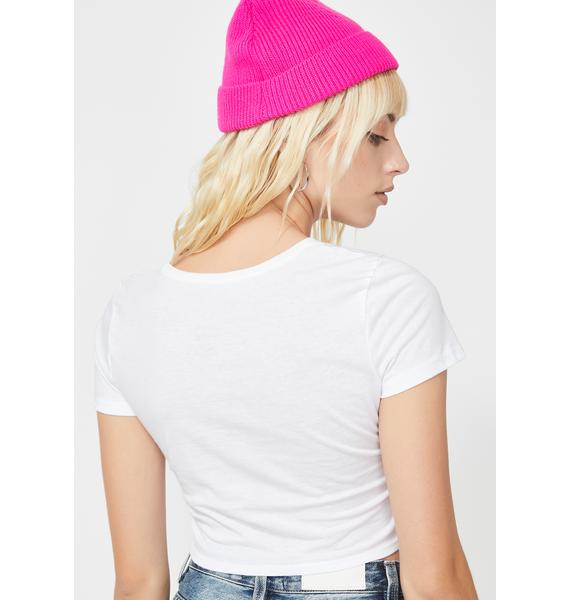 Valley High Butterfly Crop Baby Tee