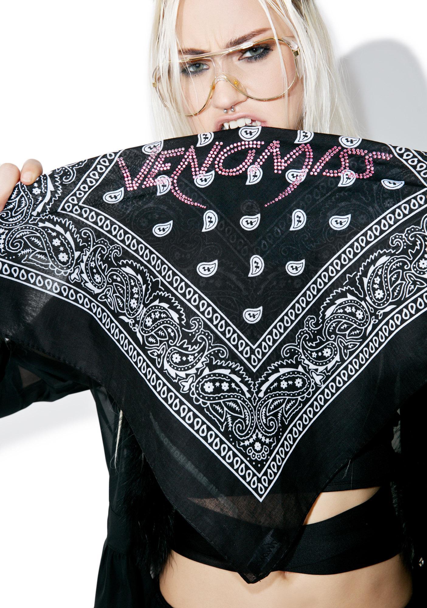 Venomiss NYC Crystal Logo Bandana