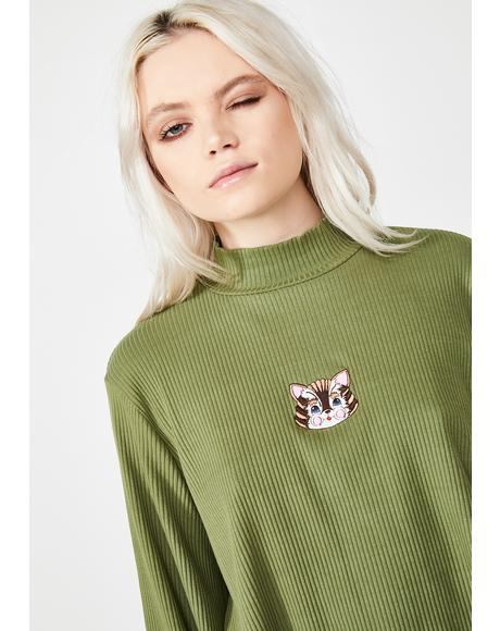 Kitty Rib Long Sleeve Top