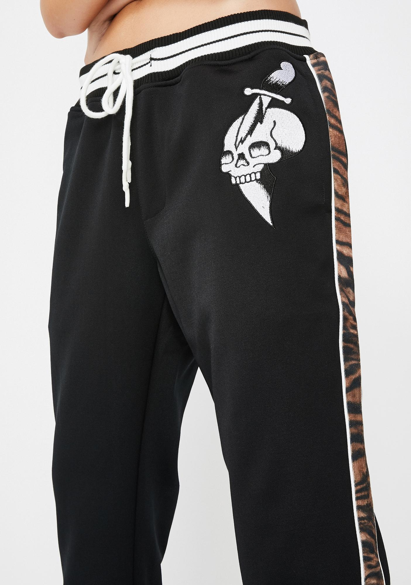 Ed Hardy Slim Fit Tiger Stripe Track Pants