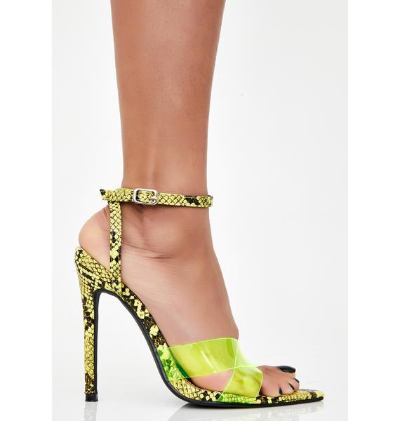 Venomous Drip Snakeskin Heels