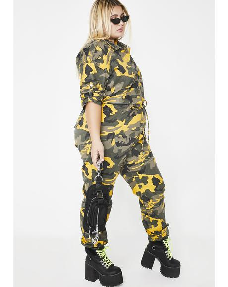 Force Of Nature Camo Jumpsuit