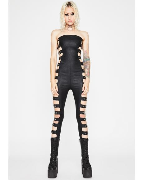 Midnight War Zone Buckle Catsuit