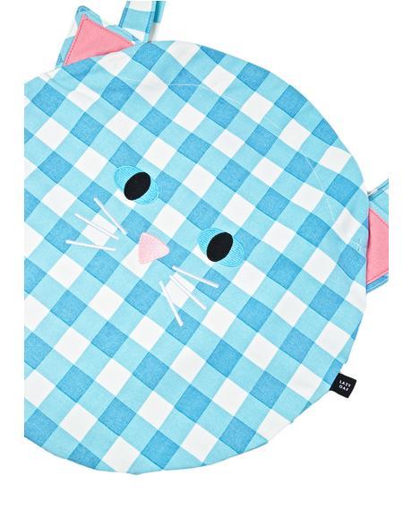 Cat Gingham Bag