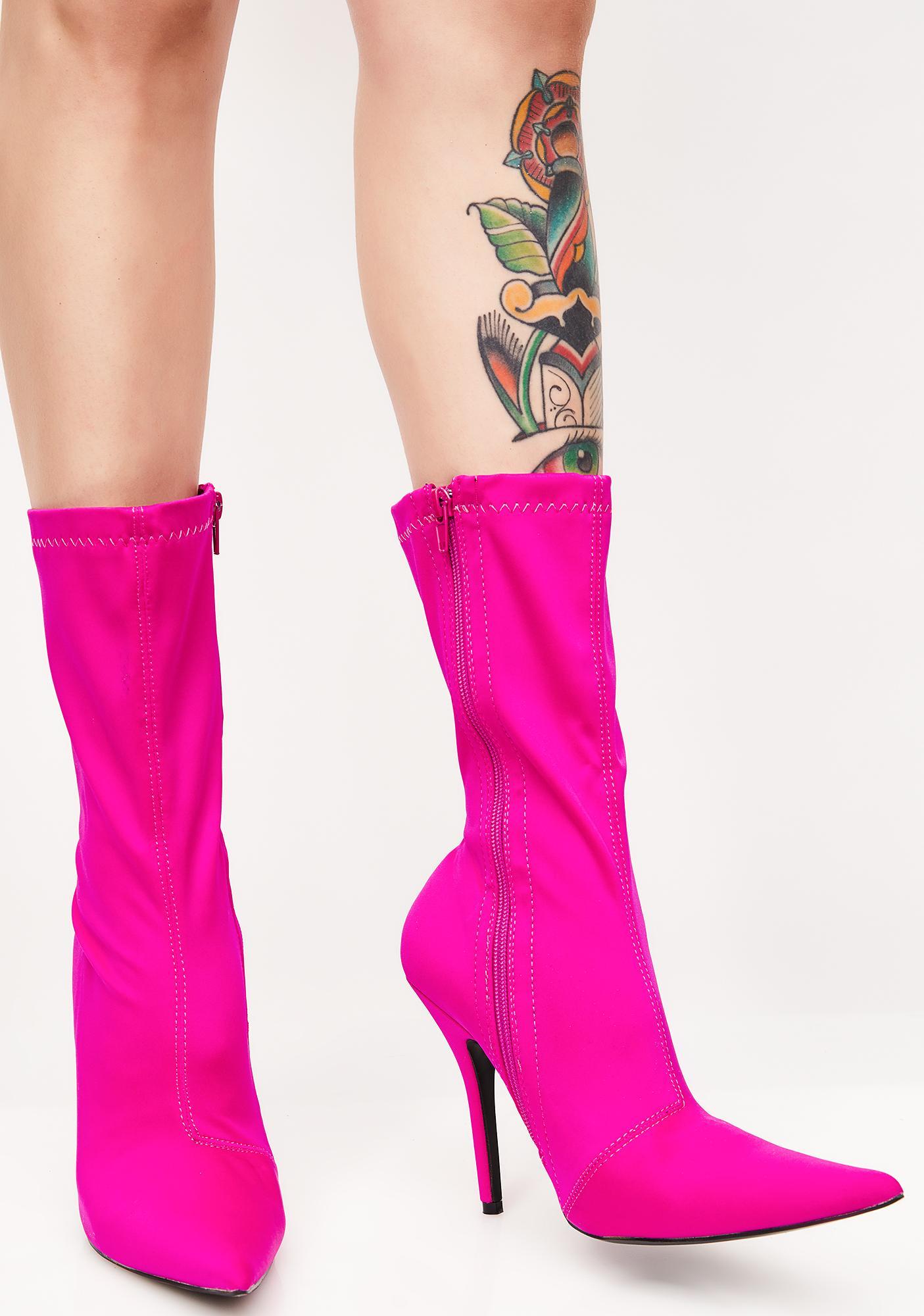 ec368079b992 Public Desire Danger Sock Fit Ankle Boots