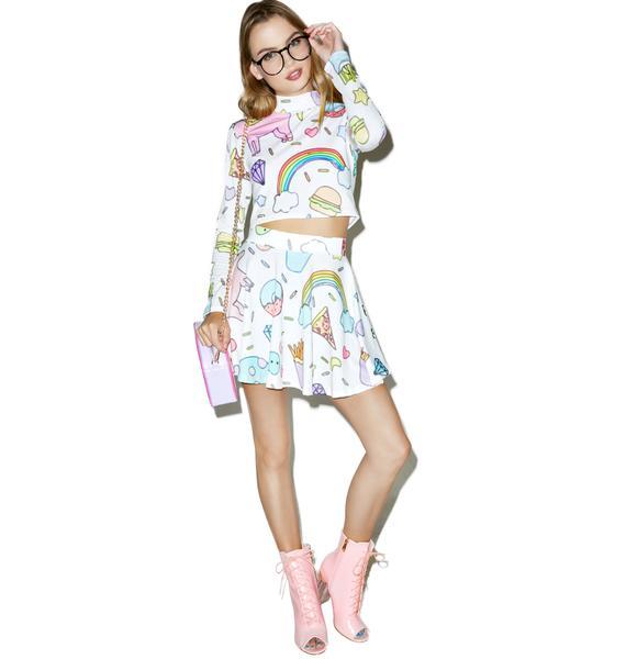 Minga Land of Magic Unicorn Skirt Set