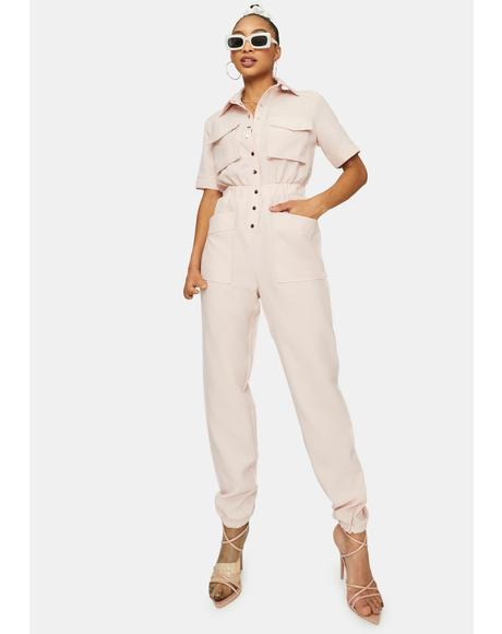 Blush Good Generation Short Sleeve Jumpsuit