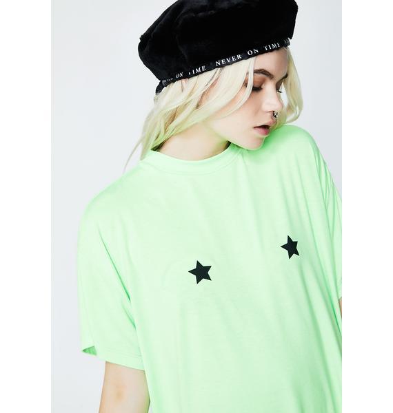 Lazy Oaf Neon Stars Tee