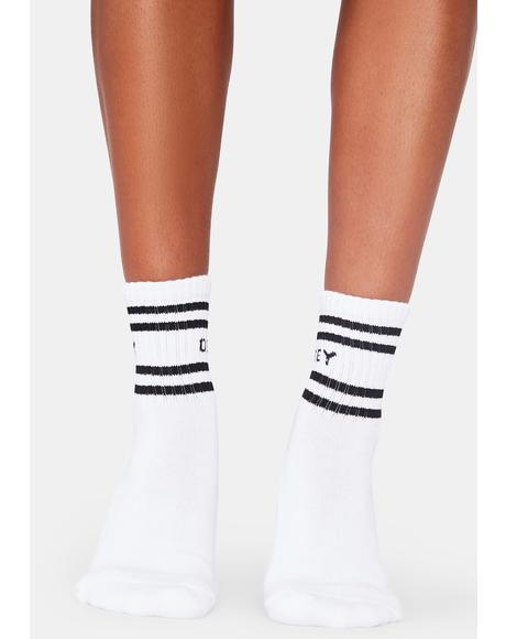 Coop White And Black Ankle Socks