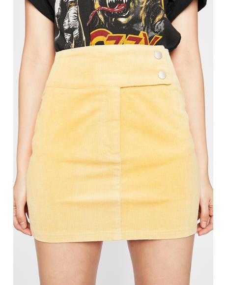 Posh Presence Corduroy Skirt