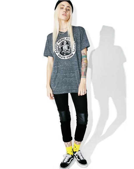 Skate Core Burnout Tee