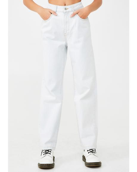 Stone Wash Dad Jeans