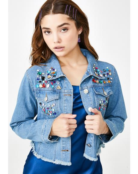 Bedazzled Babe Jean Jacket