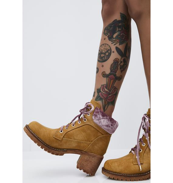 Caramel Go To Werk Booties
