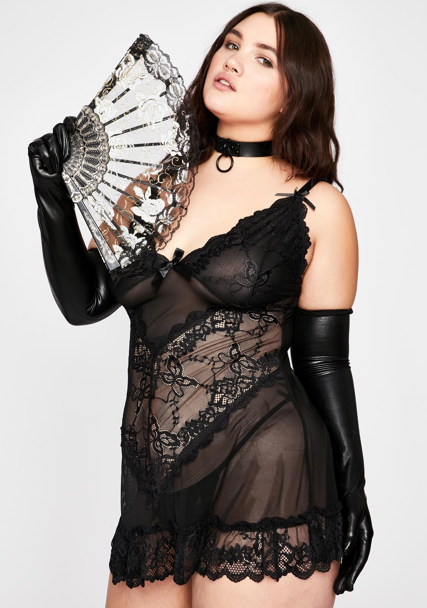 Oh la la Cheri Dark Lux Valentina Vixen Lace Babydoll