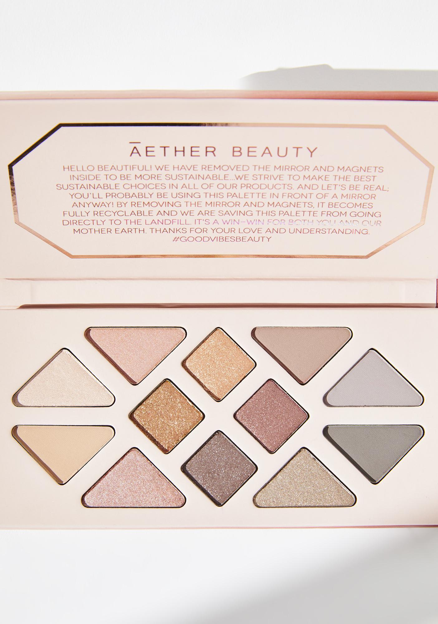 Aether Beauty Rose Quartz Gemstone Charged Eyeshadow Palette