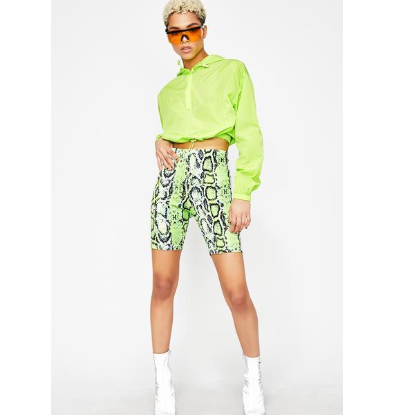 Neon Slithering Chills Biker Shorts