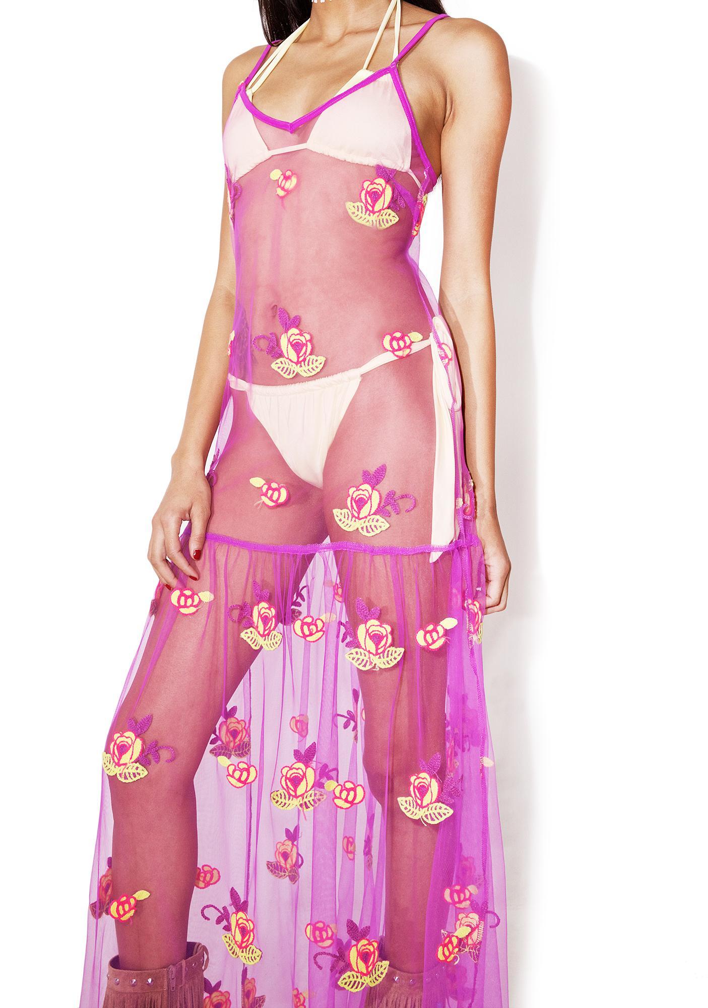 As I Am  Melody Sheer Maxi Dress