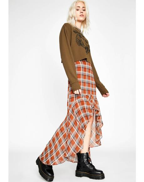 I Double Dare U Plaid Skirt