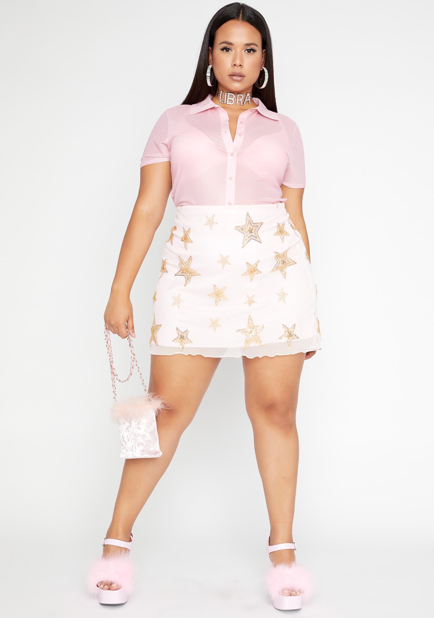 HOROSCOPEZ Let's Blame The Stars Mesh Skirt