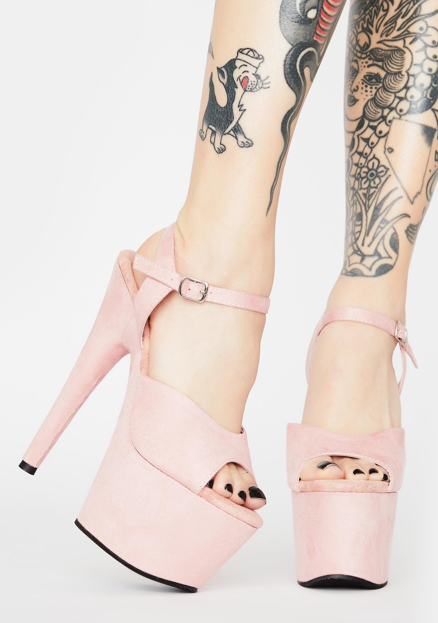 Pleaser Baby Kat Stacks Adore Platform Heels