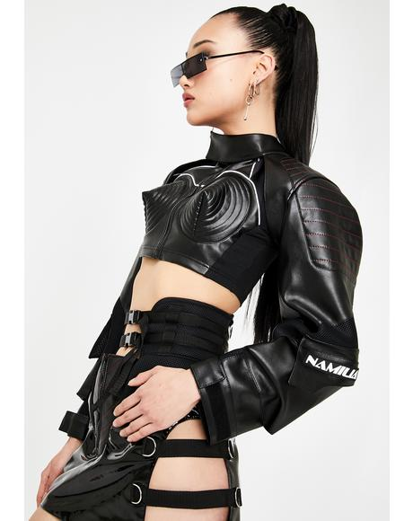 Black Motocross Choker Jacket