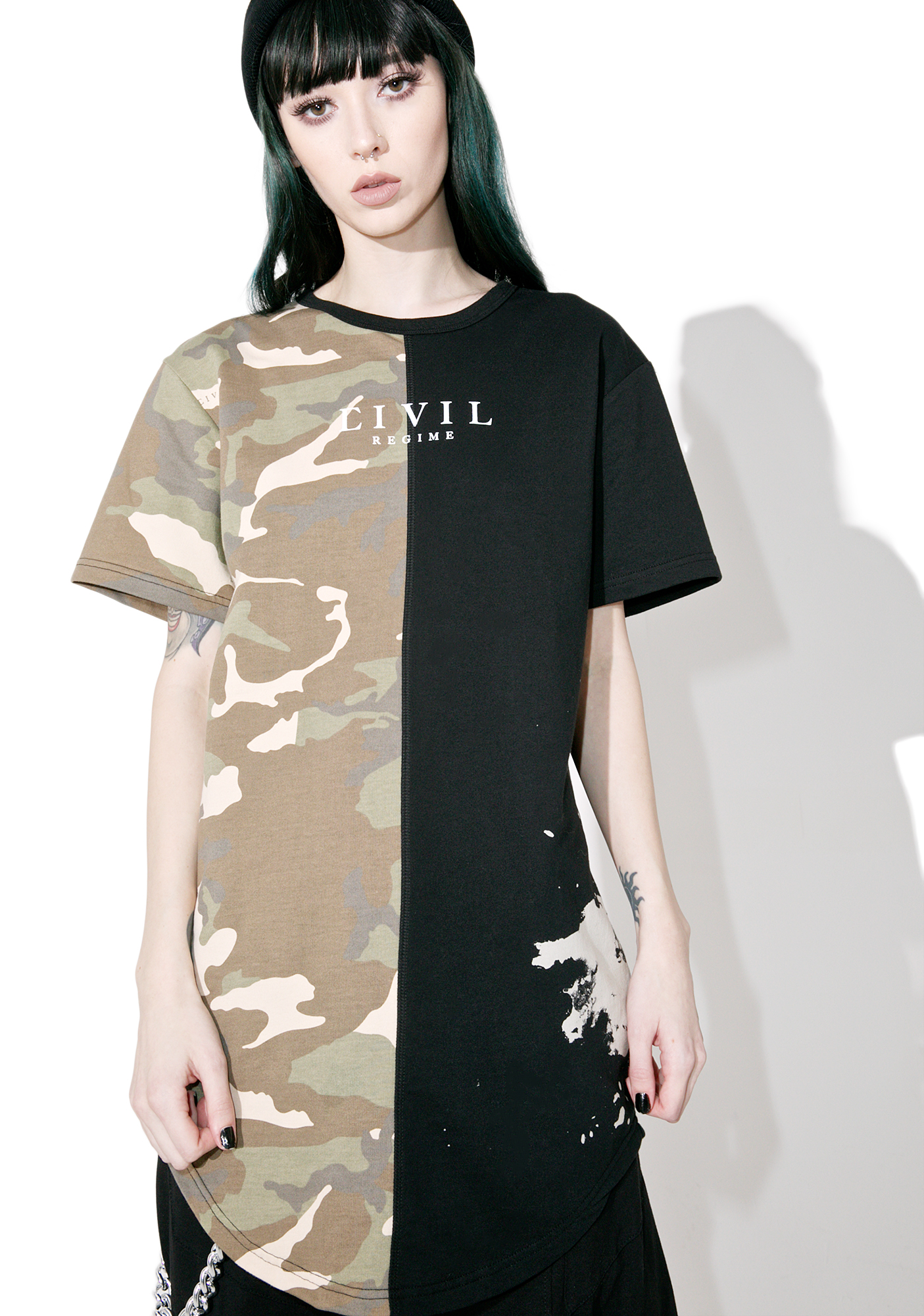 Civil Clothing AK Camo Split Drop Tee