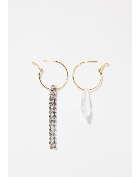 Diamond Dust Mismatch Earrings