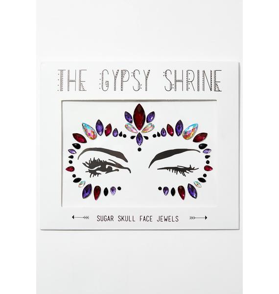 The Gypsy Shrine Candy Skull Face Gems