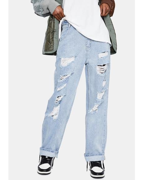 Get With Me Distressed Jeans