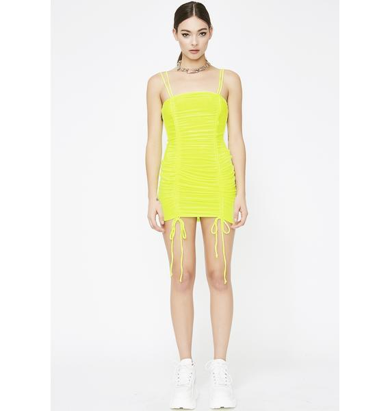 Bee Toxicity Ruched Dress