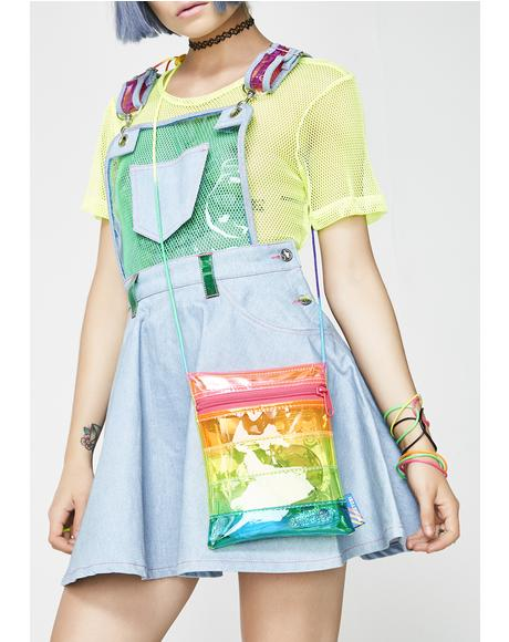 Vinyl Rainbow Crossbody Bag