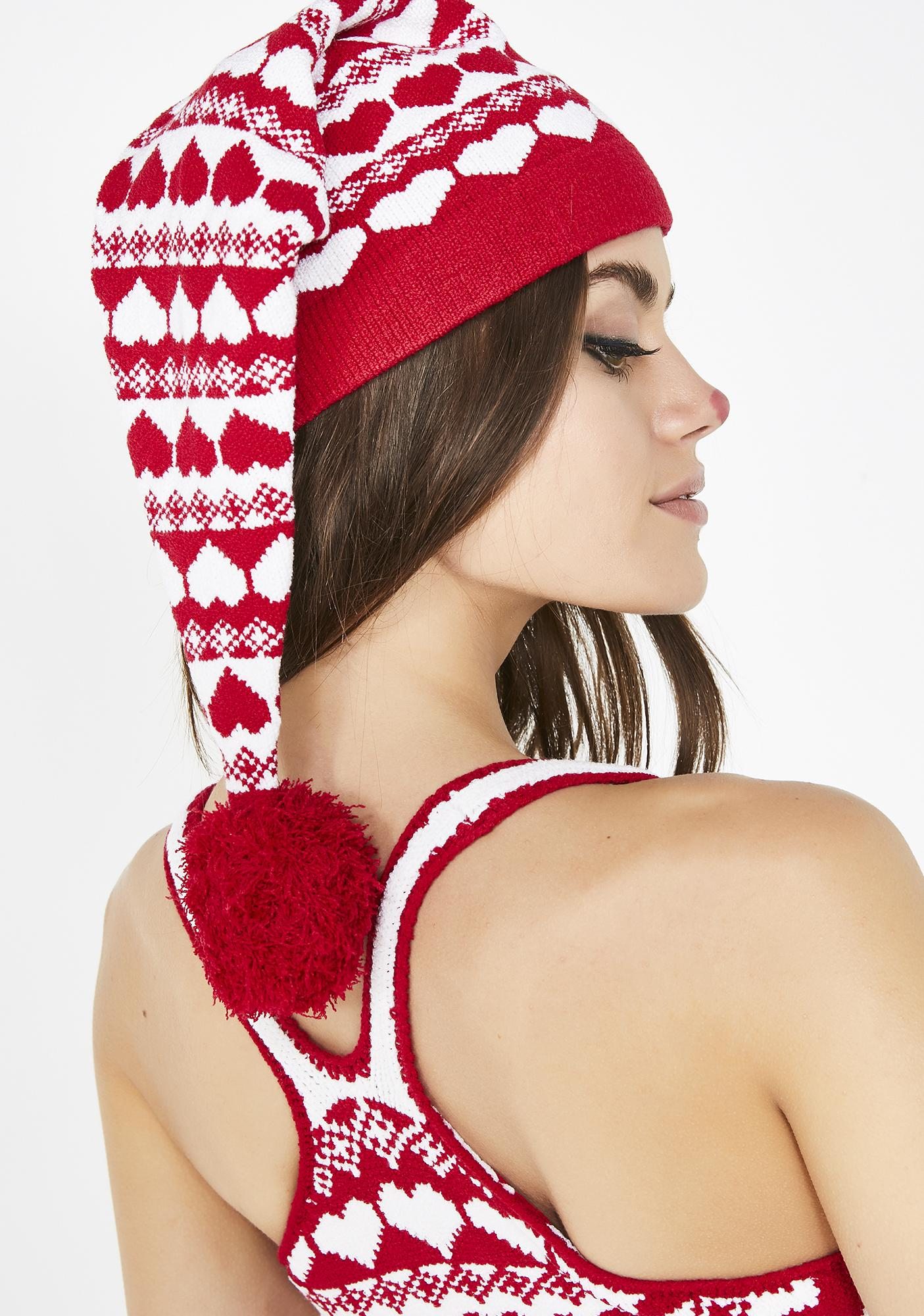 Knitty Kitty Hearts Knit Hat