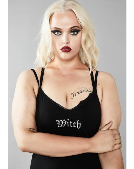 Devilish Witch Tendencies Embroidered Set