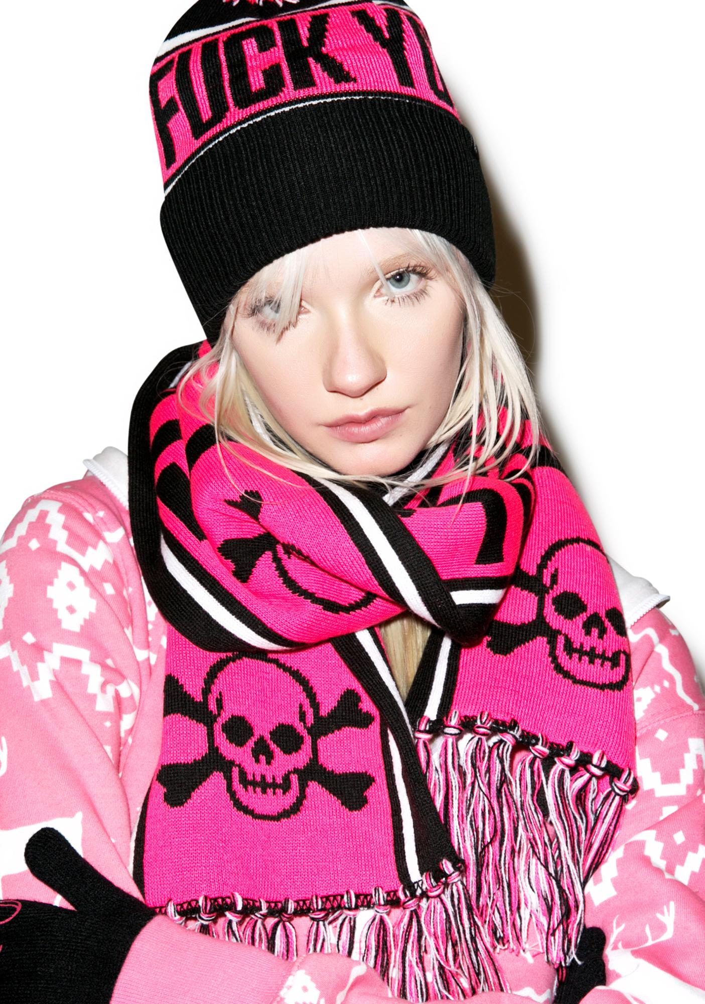 Sourpuss Clothing Fuck You Knit Scarf