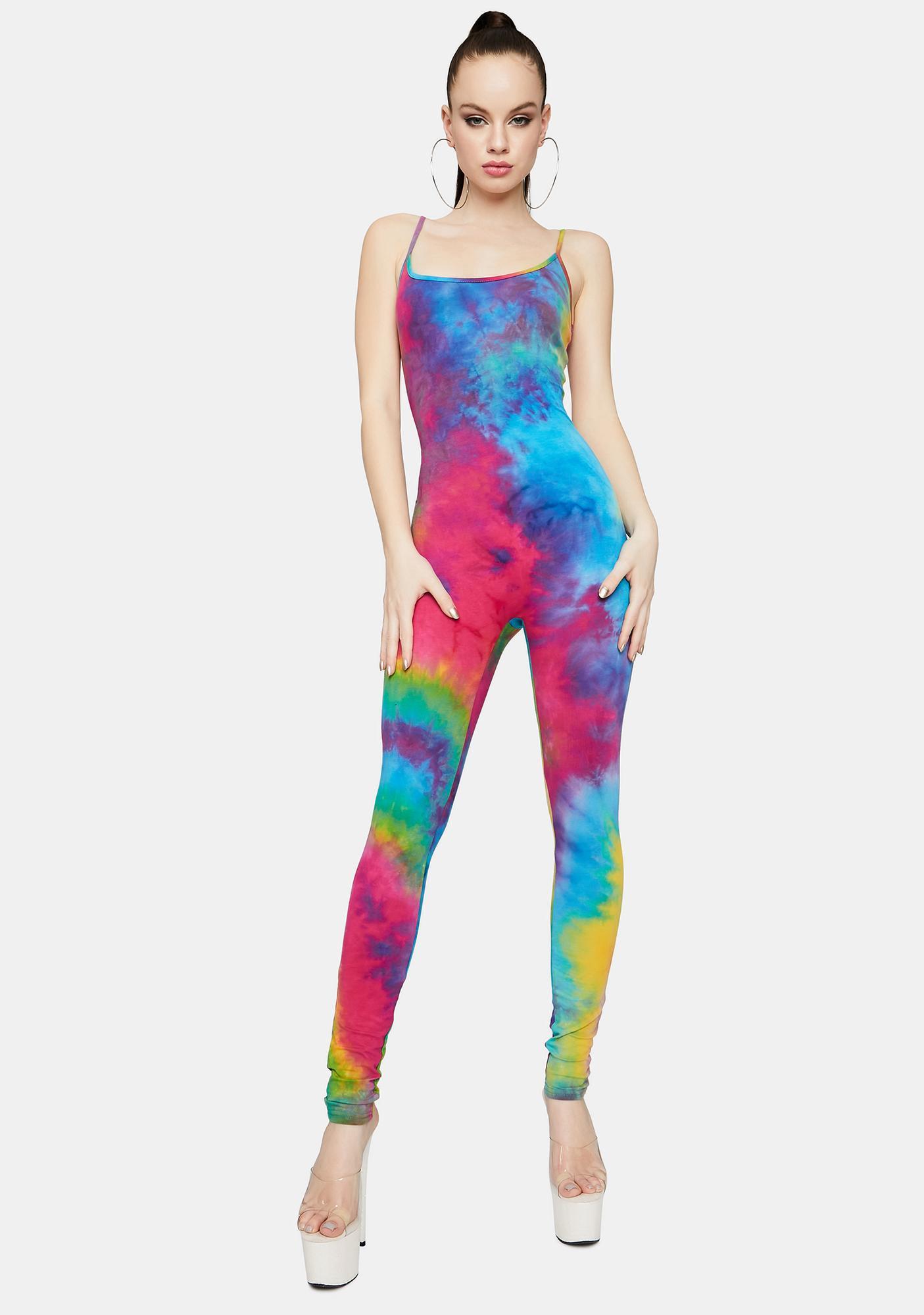 Rainbow Beat Of My Heart Tie Dye Jumpsuit