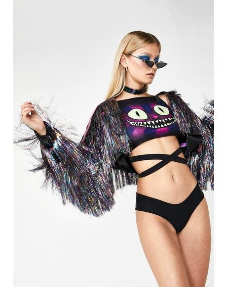 Disco Thunder Fringe Jacket