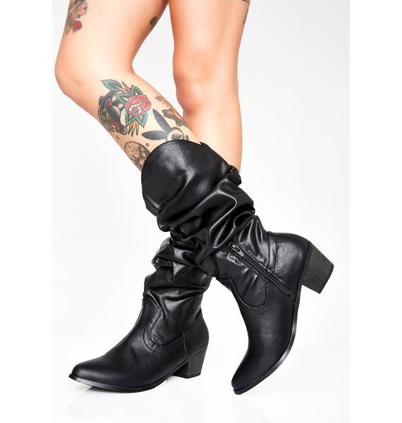 Onyx Nite Rider Cowboy Boots