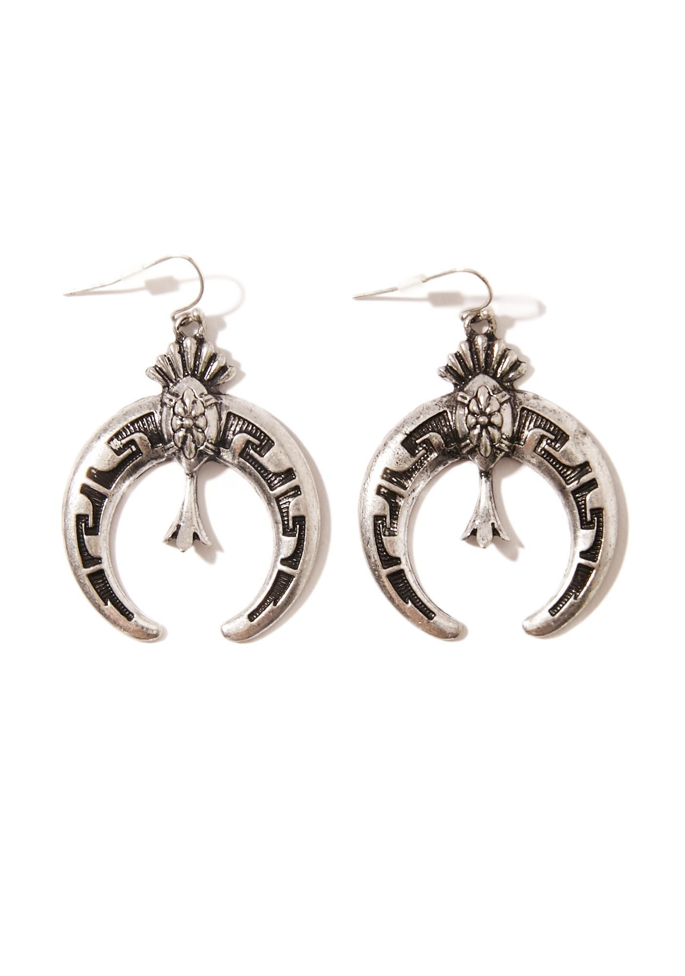 Nouveau Witch Crescent Earrings