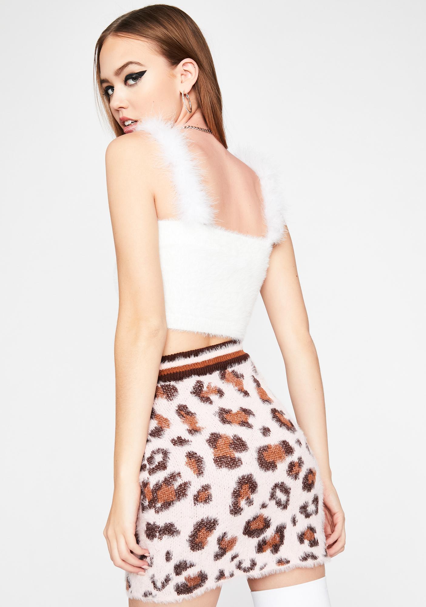 Catty Crush Fuzzy Skirt