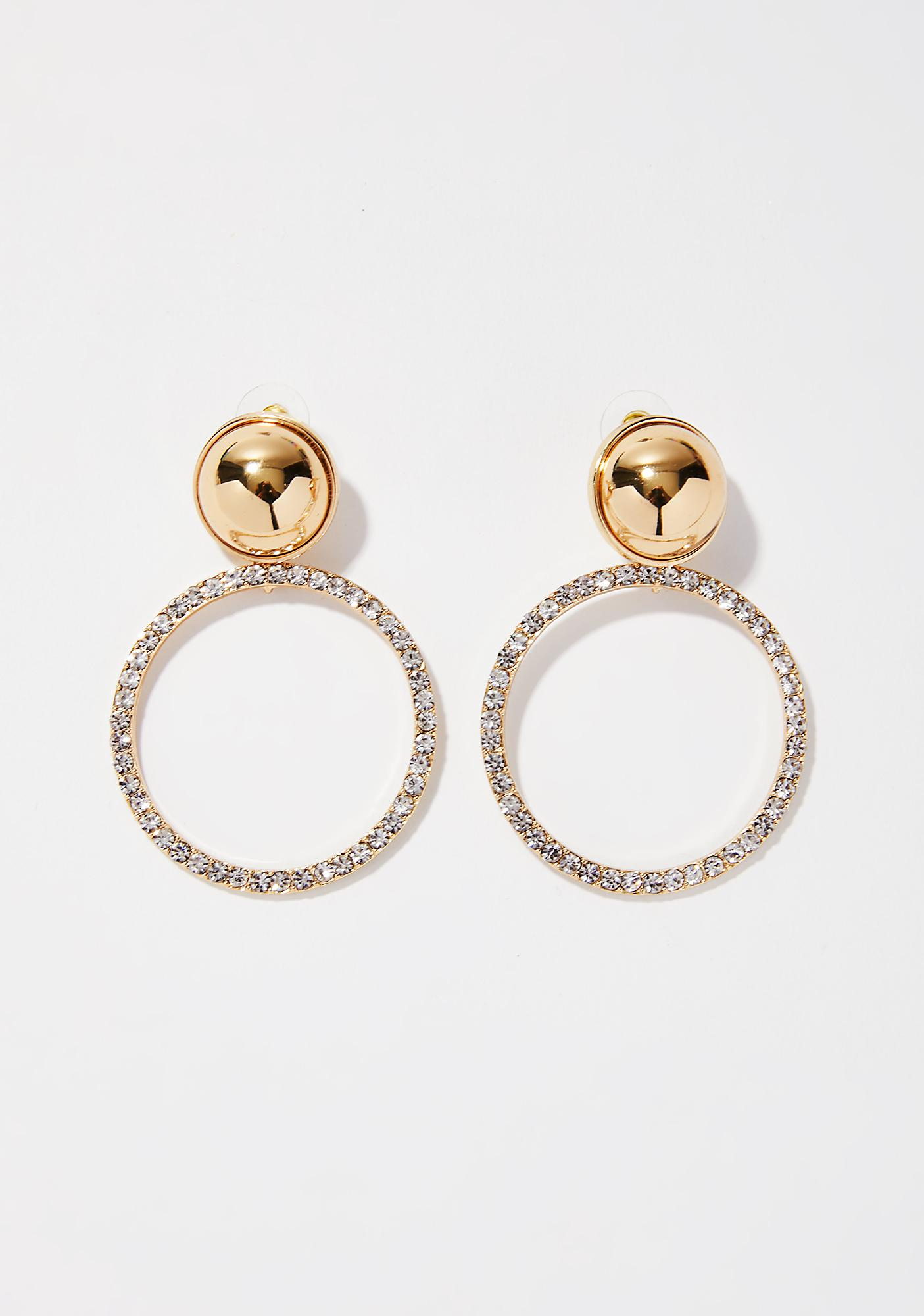 Ride For Me Hoop Earrings