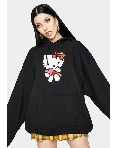 Hello Kitty Black Logo Hoodie